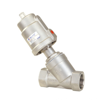 2/2 WAY piston-operated angle-seat valves for neutral and aggressive liquids and gases