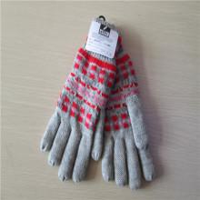 Женские вязаные перчатки с жаккардовые переплетения