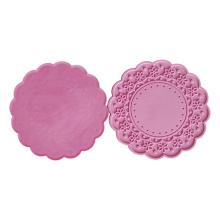 Factory Price Custom Round Rubber Silicone Coaster