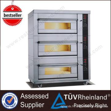 Shinelong Professional - Four à gaz à 3 étages et à 6 plateaux - Usage intensif