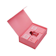 Bespoke Packaging Pink A4 Gift Box Magnetic Presentation Box with Cardboard Insert for Perfume Bottle Packing