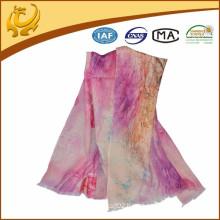 2015 new style wool custom printed scarf