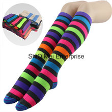 Lady Girls Custom Stripe Design Pantyhose Long Stockings