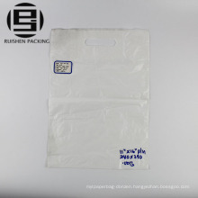 White color die cut packing bag for promotion