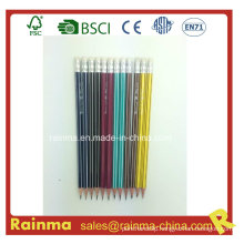 Hexagonal Strip Barrel Wooden Pencil with High Quality2