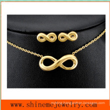 Hot Selling 8 Word Stainless Steel Necklace Stainless Steel Jewelry Set (SSNL2644)