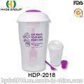 Promocional de boa qualidade Plastic Salad Shaker Cup (HDP-2018)