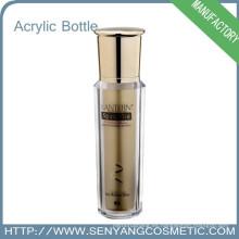 Estampado en caliente Embalaje de colores de lujo Botella cosmética de acrílico al por mayor