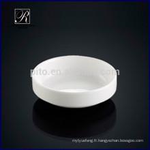 Plat à base de porcelaine ronde en soupe à soupe de kimchi pour utilisation hôtelière