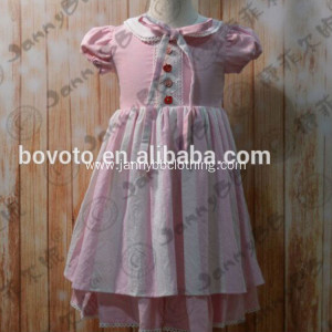 Boutique remake pink striped shift toddler dress