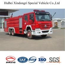 16ton Sinotruk HOWO Tipo de tanque de água Caminhão de combate a incêndio Euro 4