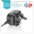 Factory Wholesale 17v 24v 1.5a direct plug-in ac UK adaptateur secteur