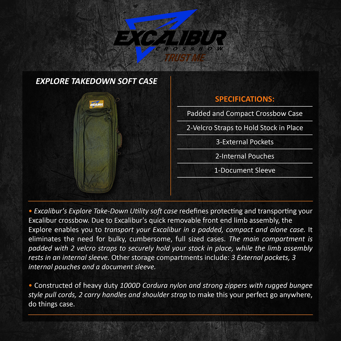 Excalibur_Explore_Takedown_Soft_Case_Product_Description