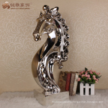 Home decoration resin table crafts horse head sculpture
