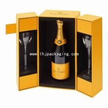 Коробка подарка коробки подарка высокого качества шампанского с 2 стеклом