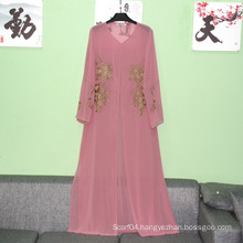 Abaya Clothing Type and Women muslim long sleeve maxi dress simple women abaya