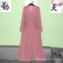 Abaya Одежда Тип и Женщины Мусульманский длинный рукав макси платье простые женщины Абая