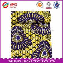 Impresión de patrones grandes Tela de cera africana de tela de moda