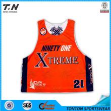 Atacado baratos Sublimation Lacrosse Camisas
