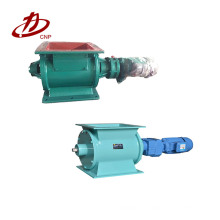 Para descargar polvo de materia prima utilizado en la esclusa de aire de la válvula rotativa