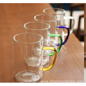 Glass mugs with multiple colors