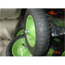 rueda de goma 4.00-8 llanta verde