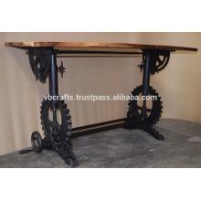 Industrial Draft Kurbelgetriebe Base Restaurant Tisch Recycling Holz Top