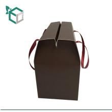 Großhandelsfirmenzeichenstempeln Glasgetränk, das Papierkastenkinderschokoriegel-Snackboxpapier-Getränkehalter mit Griff trägt