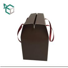 Wholesale logo stamping Glass beverage carrying paper box kid's candy bar snack box paper cup holder with handle