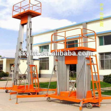 12m double mast Aluminum wall mounted lift platform