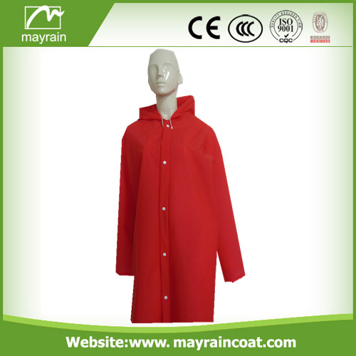 Bright Red Adult PVC Raincoat