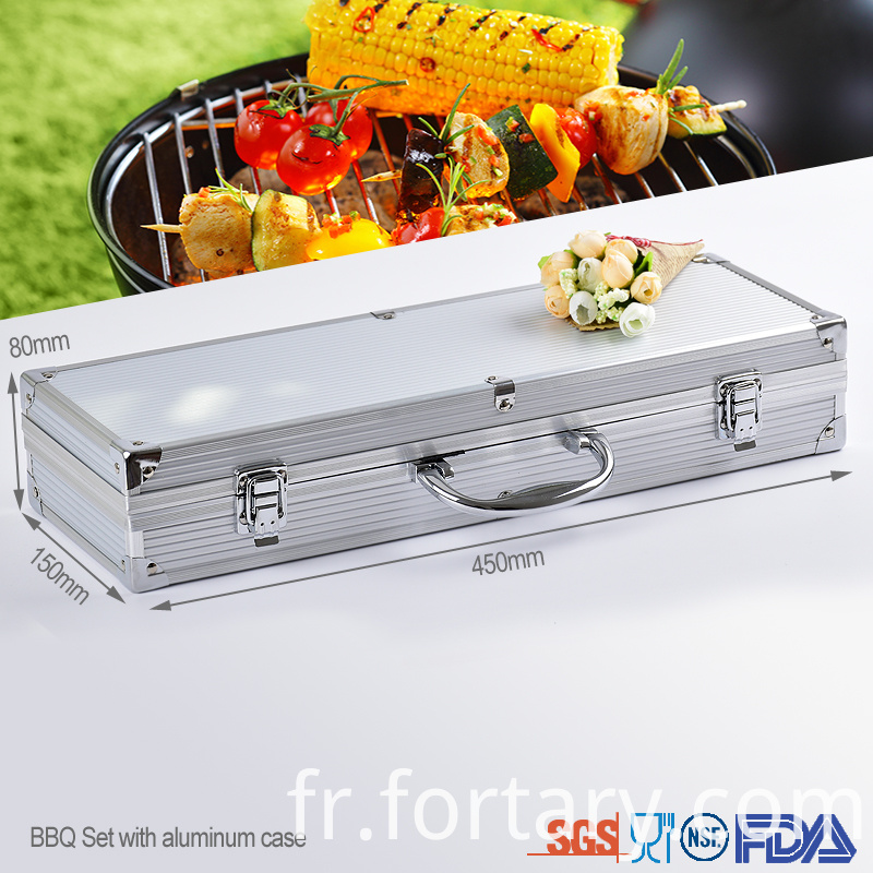 4pcs Aluminum Case Bbq Set