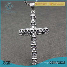 Punk silver cross pendant,silver gothic modern cross pendants