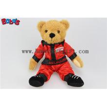 "10"" Plush Stuffed Bear Animal Wear Red Joined Bodies Vehicle Race Clothing Teddy Bear"