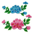 Chinese Peony Flower Applique Bordir Patch