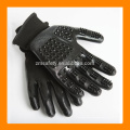 ZMH303 Pferd Deshedding Pinsel-Werkzeug-Haustier-Haar-Entferner-Handschuh, schwarze Katzen-Hundehaustier-Handschuh für Tier-Verschütten