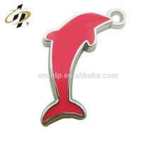 Collier pendentif fille en métal argenté rose dolphin pas cher