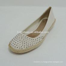 2015 мягкой фабрики прямые элегантные плоские леди причинной холст обувь