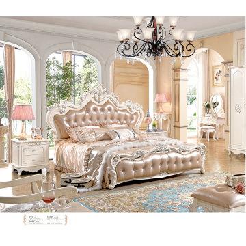 Français la chambre à coucher ensembles, commode, armoire, meubles de chambre à coucher (906)
