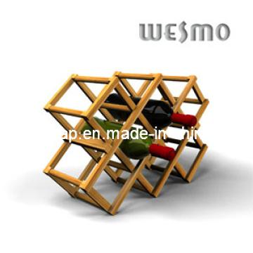 High-End Bambu Foldaway Wine Rack
