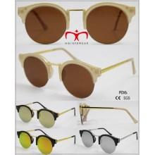 2016 nuevos vidrios unisex de moda de las medias gafas de sol del borde (WSP601521)