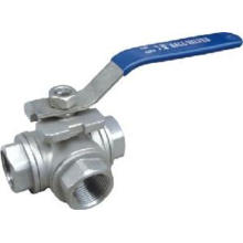 Tuas operasi tiga Way Ball Valve