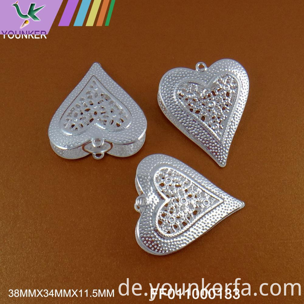 Silver Color Heart Shape Hang Ornament