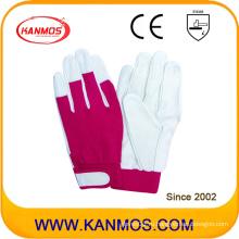 Spandex регулируемые манжеты промышленной безопасности свиней зерна кожаные перчатки работы (22006)