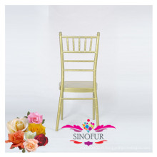 Banquet de mariage en plein air chaise de plage en aluminium