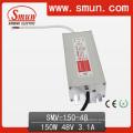 Fuente de alimentación impermeable IP67 del conductor del LED de 150W 48V 3A