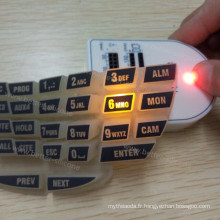 Graveur de marquage au laser gravant le clavier numérique en caoutchouc de silicone gravé