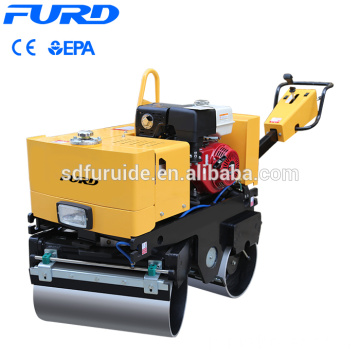 Manufacturer Supply Walk Behind Double Drum Mini Vibratory Road Roller Compactor