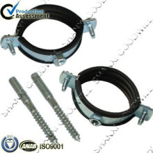 abrazadera de poste de acero al carbono solo anillo con caucho