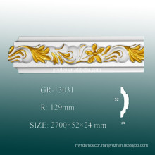 2015 Classical Decorative PU Contemporary Crown Molding Ideas/ Baseboard Trim Styles